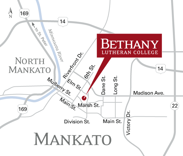 Mankato Map Bethany Lutheran College