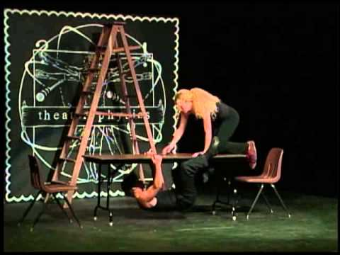 Students perform on stage at Theatre Physics 11 (2004)