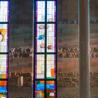Stained glass windows in Trinity Chapel