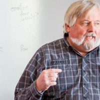 Professor Mark Wiechmann of the Psychology Department teaches a class at Bethany Lutheran College