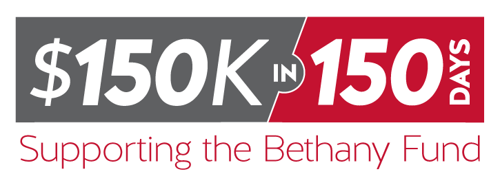 150k in 150 days logo graphic