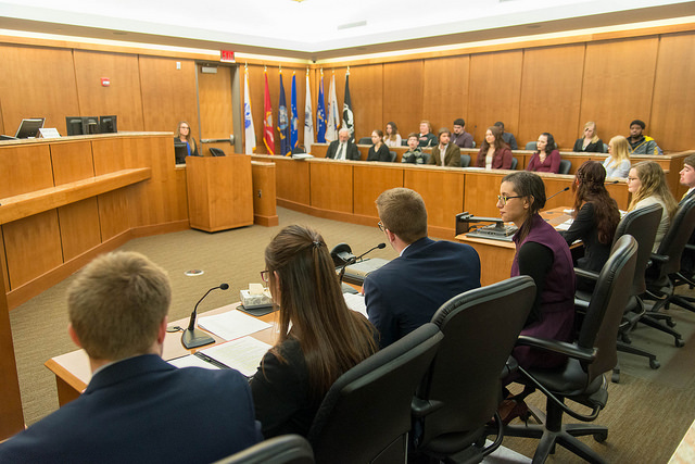 Bethany organized a mock trial in the spring of 2018.