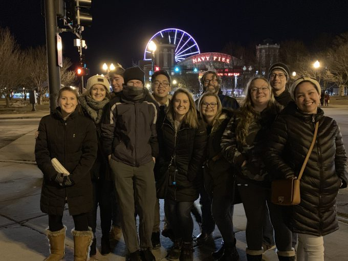 Bethany's mock trial team competed in the Chicago area February 8-10