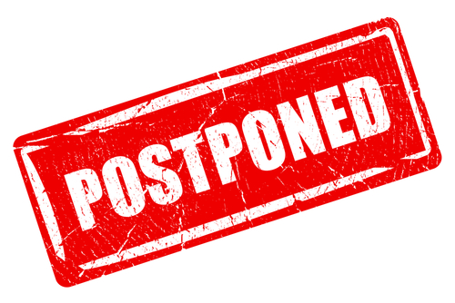 """Postponed"" graphic"
