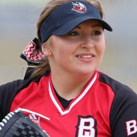 A Bethany Vikings Softball player prepares to throw a ball.
