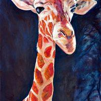 A painting of a giraffe by Wiechmann