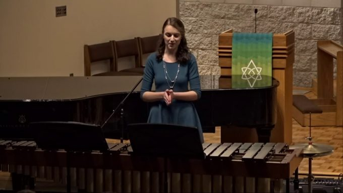 Kayla Jannsen performs during her Senior Recital