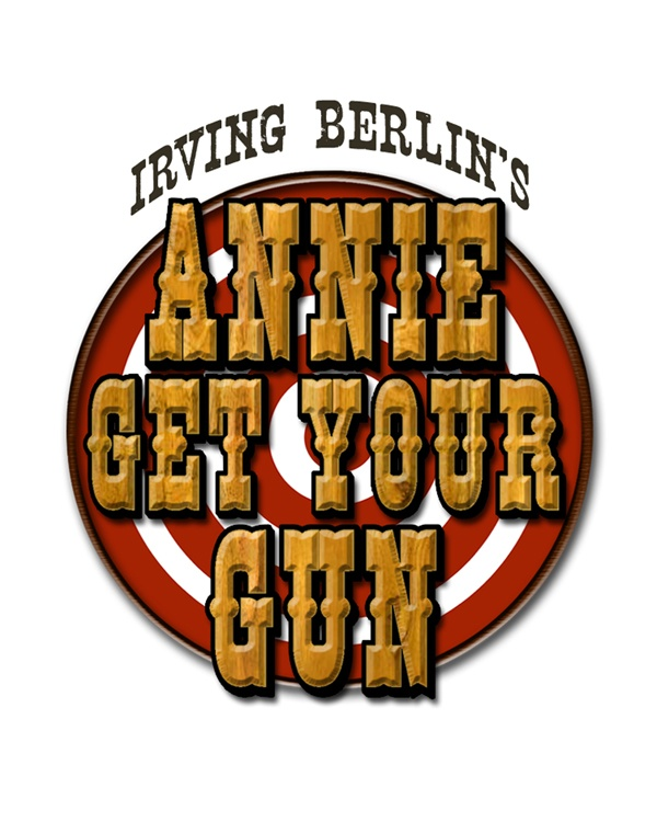 Color logo with text Annie Get Your Gun