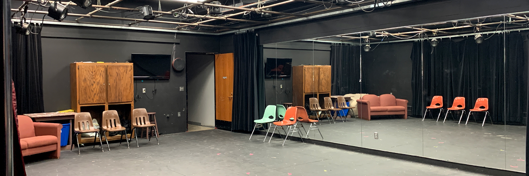 Black box theatre area