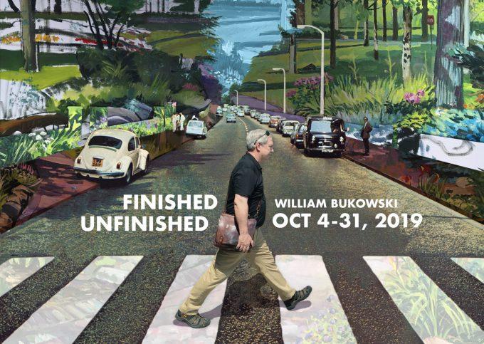 Finished Unfinished Bukowski art postcard