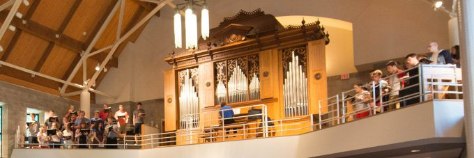 organ instrument pictured in Trinity Chapel