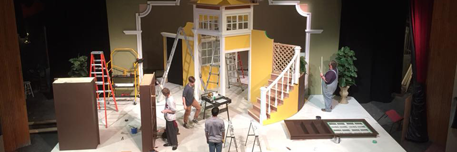 Theatre set under construction