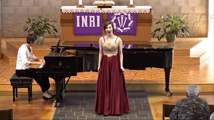 Bethany Senior Natalie Dworak performs her Senior Music Recital at Trinity Chapel, March 20, 2019
