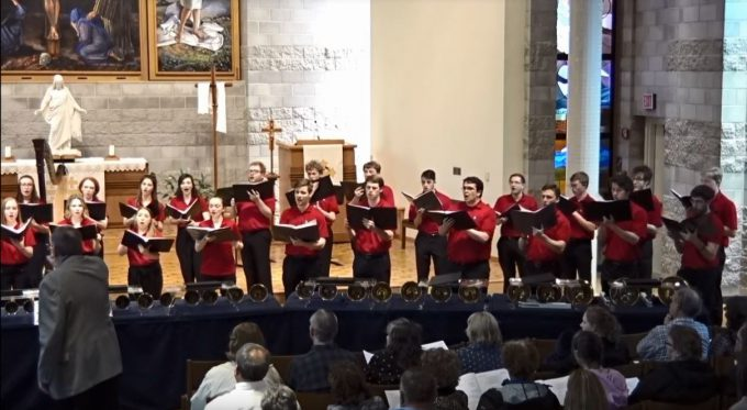 Bethany Lutheran College choir performs in Trinity Chapel, May 22, 2019.