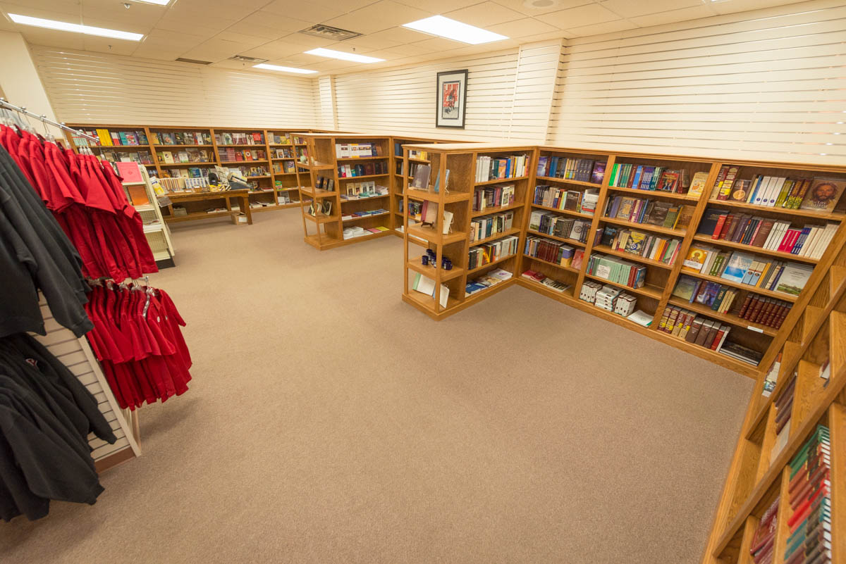 New Bethany Bookstore shelving.