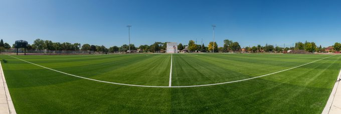Bethany soccer field from center stripe.