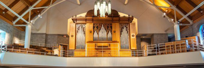 Organ in trinity chapel balcony