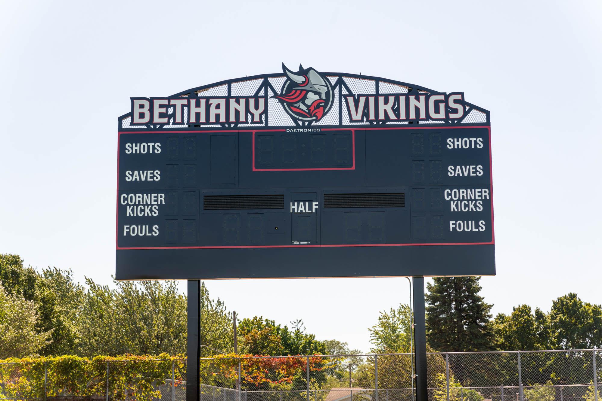 Bethany soccer scoreboard