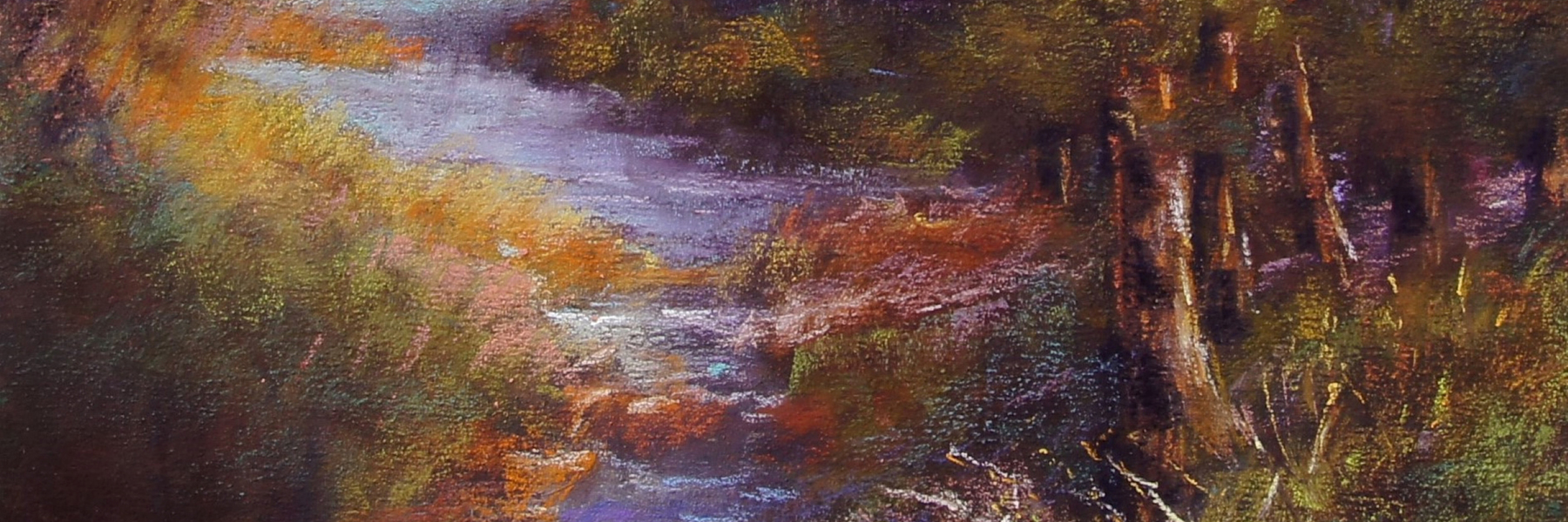 pastel drawing of nature scene