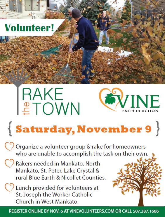 Rake the Town, Saturday, November 9. Volunteer!