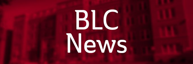 BLC News over red background