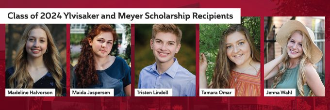 Pictures of Meyer and Ylvisaker scholarship awards