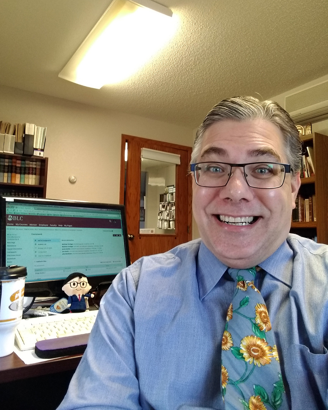 Rev. Shawn Stafford at his home office