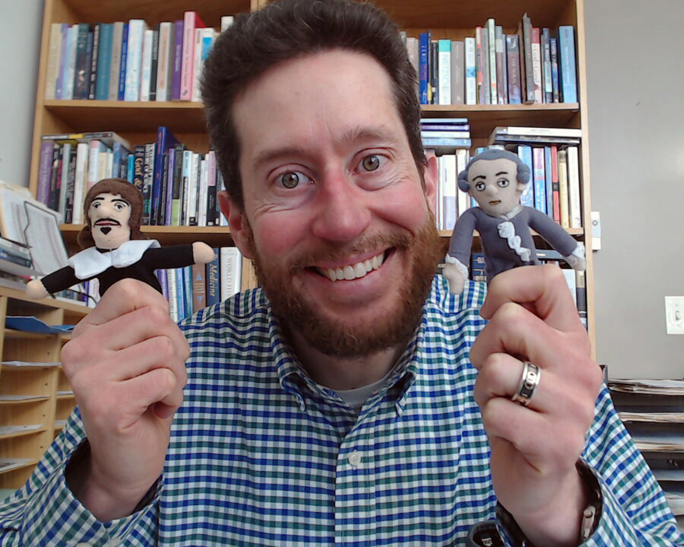 Dr. Ryan MacPherson in his office at home