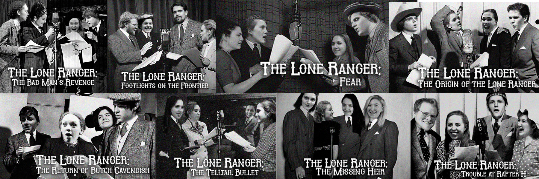 lone ranger promotion photos with students for different episodes