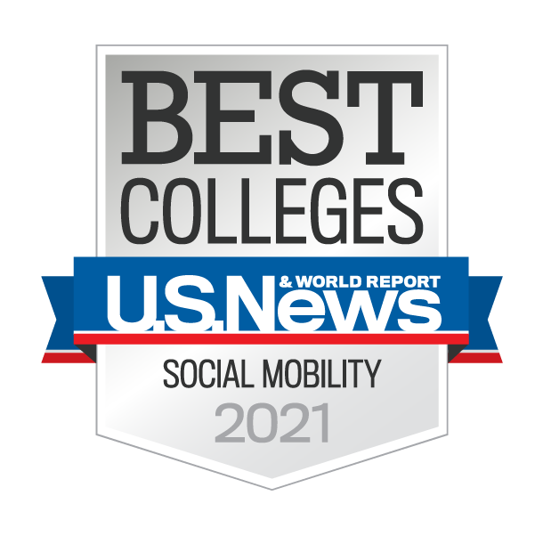 Bethany Lutheran College Us News social mobility badge 2020.
