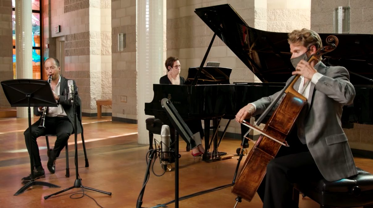 Photo of classical trio in Trinity Chapel