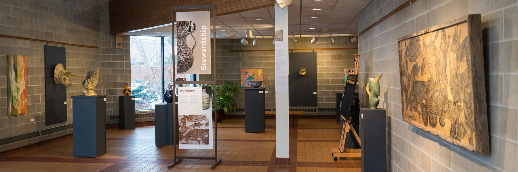 photo showcasing Bethany's gallery space in the Ylvisaker Fine Arts Center