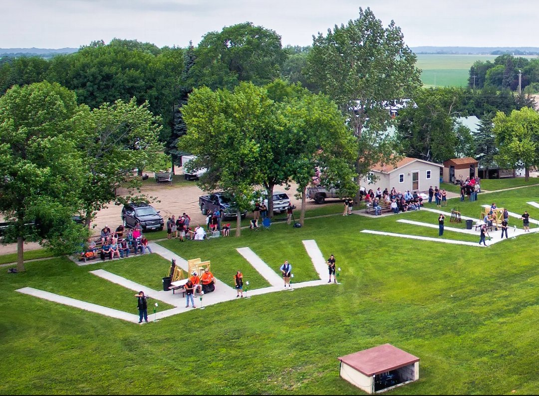 Aerial photo of the Caribou Gun Club facility