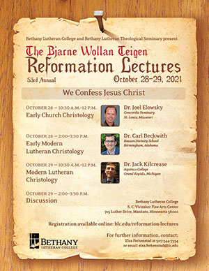 Reformation Lectures flyer - see blc.edu/reformation-lectures for details