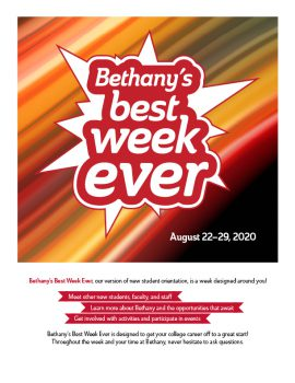 Bethany's Best Week Ever text on background